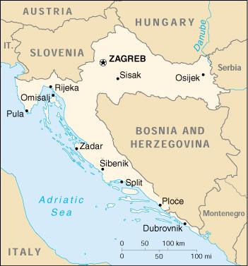 Cartina Stradale Baska Croazia.Scuba Diving Directory